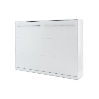 Lit escamotable horizontal CONCEPT blanc 140x200