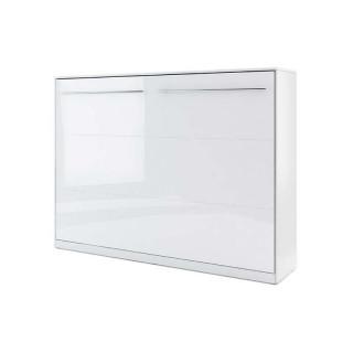 Lit escamotable horizontal CONCEPT blanc brillant 140x200