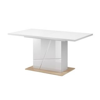 Table extensible FUTURA en blanc brillant