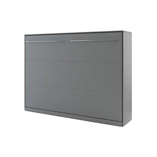 Lit escamotable horizontal CONCEPT gris 140x200
