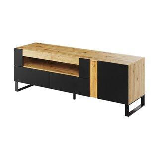 Meuble TV 2 tiroirs MONO avec LED