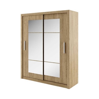Armoire coulissante 2 portes IDEA chêne shetland